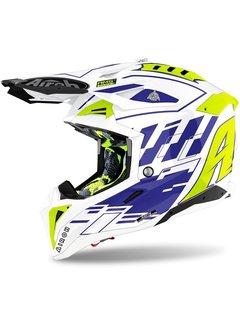 Airoh Motocross Helm Aviator 3 Rambage blau gloss