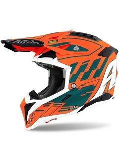 Airoh Motocross Helm Aviator 3 Rambage orange gloss