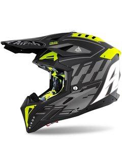 Airoh Motocross Helm Aviator 3 Rambage schwarz matt