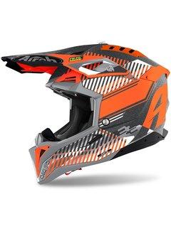 Airoh Motocross Helm Aviator 3 Wave orange matt