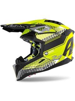 Airoh Motocross Helm Aviator 3 Wave gelb matt