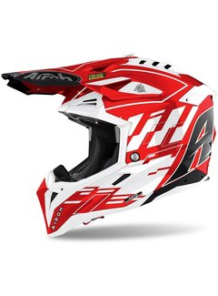 Airoh Motocross Helm Aviator 3 Rambage rot gloss