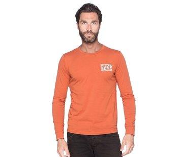 Yamaha Faster Sons Langarm-T-Shirt Kanji Orange