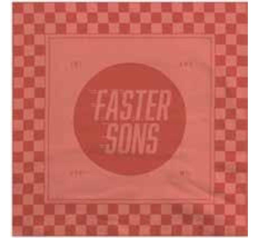 Faster Sons Baumwolle Bandana Halstuch rot orange