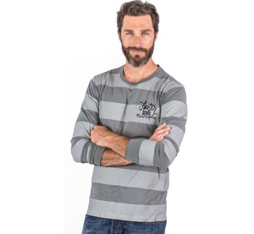 Faster Sons Script Striped Long Sleeve