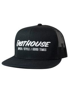 Fasthouse Classic Trucker Cap Kappe  Hat - Black