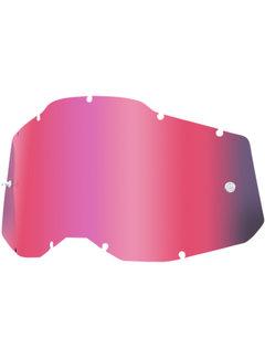 100 % Mirror Pink Ersatzglas Lens für Accuri 2 / Strata 2 / Racecraft 2