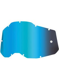 100 % Mirror Blau Ersatzglas Lens für Accuri 2 / Strata 2 / Racecraft 2