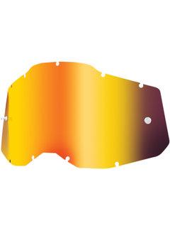 100 % Mirror Rot Ersatzglas Lens für Accuri 2 / Strata 2 / Racecraft 2