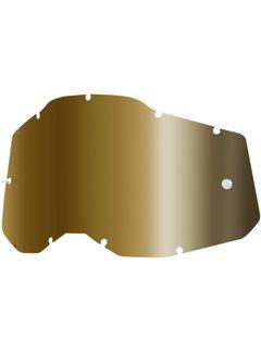 100 % Mirror True Gold Ersatzglas Lens für Accuri 2 / Strata 2 / Racecraft 2