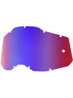 100 % Mirror Blau Rot Ersatzglas Lens für Accuri 2 / Strata 2 / Racecraft 2