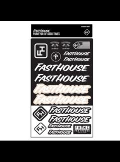 Fasthouse Sticker Sheet Black/White