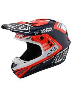 Troy Lee Designs Helm SE4 Carbon inkl. Mips Flash Team blau rot