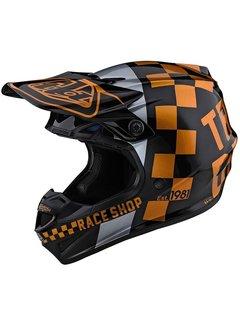 Troy Lee Designs Helm SE4 Polyacrylite MIPS Checker schwarz gold
