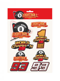 GPRacing Stickers Sticker Set Marc Marquez 'Eightball' - World Champion 2019