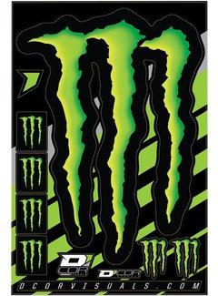 D´Cor Visuals Sticker Aufkleber Bogen Monster Claw