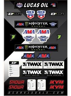 D´Cor Visuals Sticker Aufkleber Bogen Series Logo