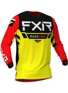 FXR Helium MX Gear Motocross Jersey gelb schwarz rot
