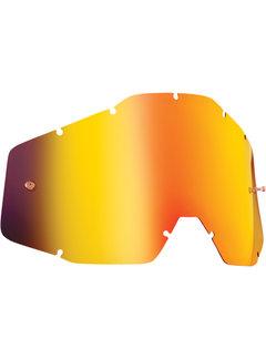 100 % Ersatzglas Glas Lens für FMF Vision Brille Mirror grau rot