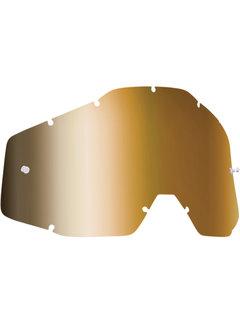 100 % Ersatzglas Glas Lens für FMF Vision Brille Mirror gold bronce