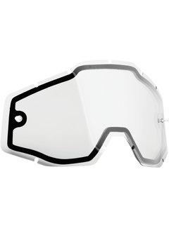 100 % Ersatzglas Glas Lens für FMF Vision Brille PowerBomb/PowerCore Dual Panel clear