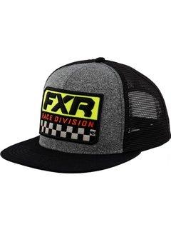 FXR Cap Kappe Race Division schwarz grau heather hi viz