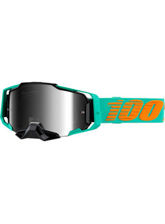 100 % Armega MX Enduro Anti Fog klar Brille Blau  Grün  Orange  Türkis