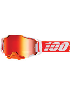 100 % Armega MX Enduro Brille Regal orange weiss