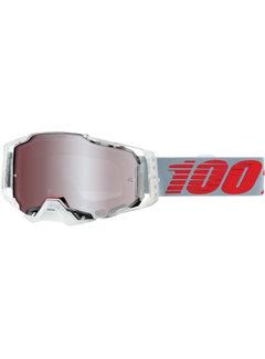 100 % Armega MX Enduro Anti Fog Hiper Mirror Lens Brille X-Ray clear