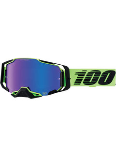 100 % Armega MX Enduro Anti Fog Hiper Mirror Lens Brille Uruma hellgrün schwarz