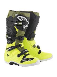 Alpinestars Stiefel Tech 7 schwarz gelb grün