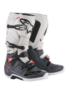 Alpinestars Stiefel Tech 7 grau schwarz rot