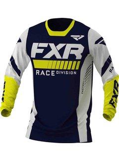 FXR Revo MX Gear Motocross Jersey gelb navy weiss