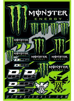 D´Cor Visuals Sticker Aufkleber Bogen Monster Claw - Kawasaki