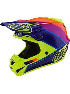 Troy Lee Designs Helm SE4 Polyacrylite MIPS Beta yellow purple