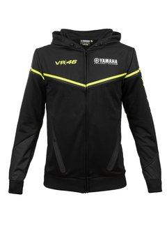 VR46 Dual Yamaha MotoGP Valentino Rossi Zipp Hoodie - Black Line