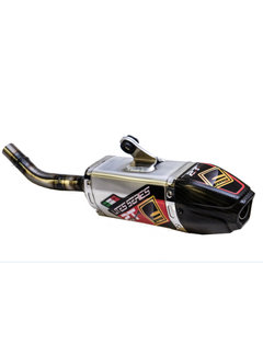 Fresco Carby Muffler Auspuff Aluminium / Carbon End Cap Yamaha YZ125 Bj. 02-21