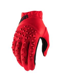100 % Airmatic Handschuhe rot schwarz