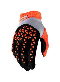100 % Airmatic Handschuhe orange schwarz