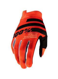 100 % iTrack Handschuhe orange schwarz