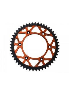 PBR Twin Color Kettenrad Orange / Schwarz  Aluminium Ultraleicht selbstreinigend hart eloxiert 520 Pitch Typ 899
