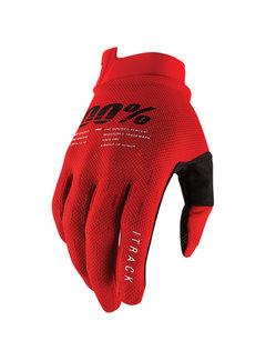 100 % Handschuhe iTrack Gloves rot