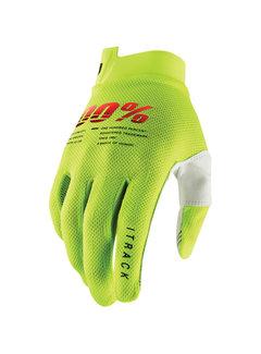 100 % Handschuhe iTrack Gloves neongelb