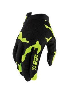 100 % Handschuhe iTrack Gloves Salamander schwarz - neongelb