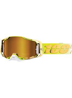 100 % Armega MX Enduro Brille Feelgood neongelb gold