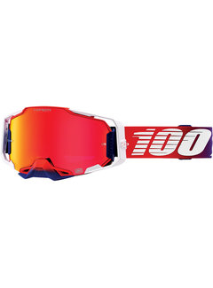 100 % Armega MX Enduro Brille Factory Hiper rot