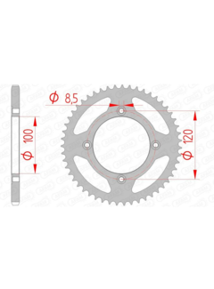 AFAM Steel Standard Rear Sprocket 38101 - 420 / 60 Zähne für Beta RR50