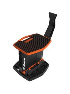 Polisport Ständer klappbarer Motorradständer mit Polisport Logo orange schwa