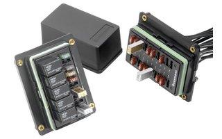 Fuses, circuit breakers, relays & panel meters