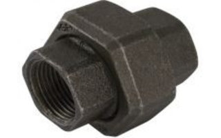 Union couplings (black)